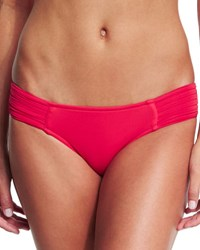 Seafolly Pleated Side Hipster Swim Bottom Chilli Red