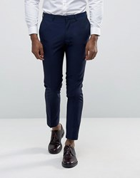 Burton Menswear Skinny Suit Trousers Navy
