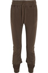 Haider Ackermann Cotton Terry Tapered Track Pants Light Brown