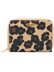 Muveil Leopard Print Wallet Brown