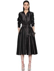 Max Mara Belted Shantung Silk Dress