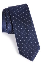 Men's The Tie Bar Dot Silk Tie Classic Navy