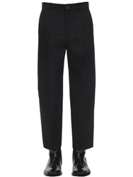 Balenciaga Cropped Technical Twill Pants Black