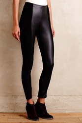 La Fee Verte Suede Ponte Leggings Black