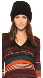 1717 Olive Lofty Rib Knit Cuffed Beanie Black