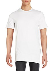 Saks Fifth Avenue Red Crewneck Cotton T Shirt White
