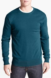 Men's French Connection Elbow Patch Sweater Pacific Blue