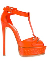 Casadei Platform Sandals Yellow Orange