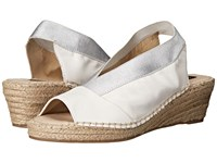 Steven Indiggoo White Leather Women's Wedge Shoes