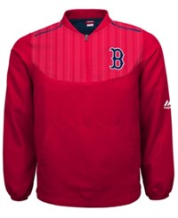 Majestic Boys' Boston Red Sox Quarter Zip Pullover Jacket