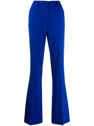 P.A.R.O.S.H. Flared Tailored Trousers Blue