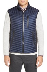 Men's Tumi 'On The Go' Quilted Down Vest Midnight