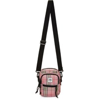 Opening Ceremony Pink And Black Plaid Messenger Bag