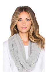 Lamade Two Tone Waffle Cashmere Blend Infinity Scarf Gray