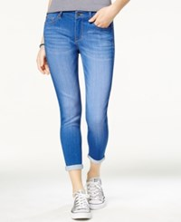 Celebrity Pink Juniors' Cuffed Skinny Ankle Jeans Blue Lagoon