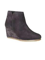 White Stuff Leonie Wedge Boot Charcoal