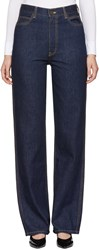 Calvin Klein 205W39nyc Blue High Rise Straight Jeans
