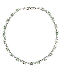 Bottega Veneta Silver And Cubic Zirconia Necklace