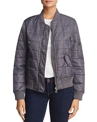 Fillmore Quilted Bomber Jacket Charcoal