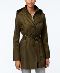 Inc International Concepts Hooded Raincoat Only At Macy's Olive