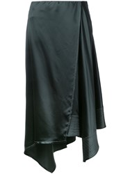 Christophe Lemaire Asymmetric Skirt Women Silk 36 Black