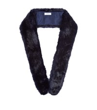 Reiss Linski Faux Fur Scarf Female Navy