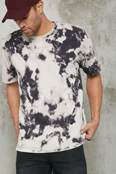 Forever 21 Tie Dye Print Tee Grey Taupe