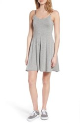 Lush Women's Fit And Flare Dress H Grey Black Stripe