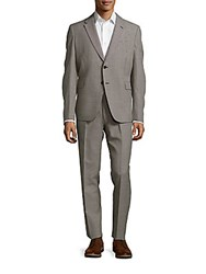 Valentino Check Two Piece Suit Beige
