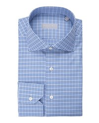 Stefano Ricci Check Dress Shirt Light Blue
