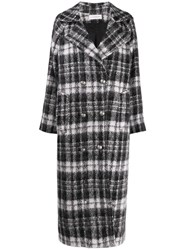 Faith Connexion Checked Double Breasted Coat Grey