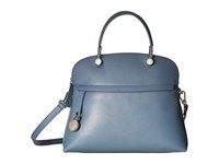 Furla Piper Medium Dome Dolomia Satchel Handbags Blue