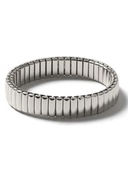 Topman Silver Look Stainless Steel Stretch Bracelet