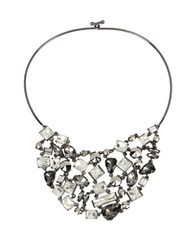 Kenneth Cole Bib Collar Necklace Black