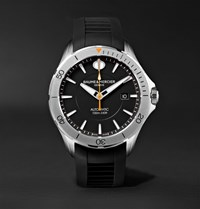 Baume And Mercier Clifton Club Automatic 42Mm Stainless Steel Rubber Watch Black