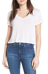 Women's Bp. Crop Tee White