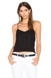 Frame Denim Le Lace Cami Black