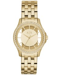 Armani Exchange Ax Women's Lady Hampton Gold Tone Stainless Steel Bracelet Watch 36Mm Ax5251