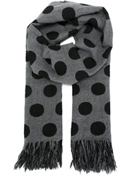 Y's Polka Dot Scarf Grey