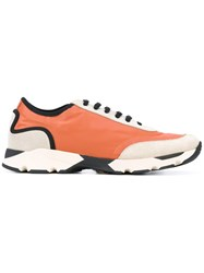 Marni Panelled Trainers Men Leather Polyester Rubber 44 Yellow Orange