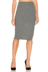 Bella Luxx Plush Rib Tube Skirt Gray