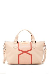 Treesje Crest Leather Tote Pink