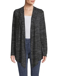 Marc New York Striped Flyaway Cardigan Black