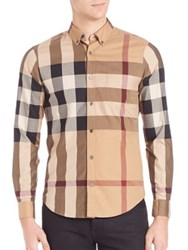 Burberry Fred Woven Sportshirt Camel