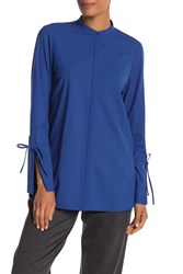 Lafayette 148 New York Desra Wool Blend Tunic Glaze Blue