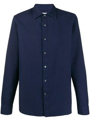 Closed Plain Pique Shirt Blue