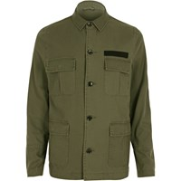 River Island Mens Khaki Military Jacket