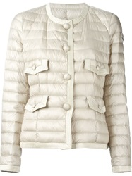 Moncler 'Debelle' Padded Jacket Nude And Neutrals