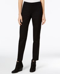 Eileen Fisher Organic Cotton Blend Twill Pants Black