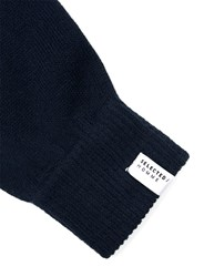 Selected Blue Homme Navy Gloves